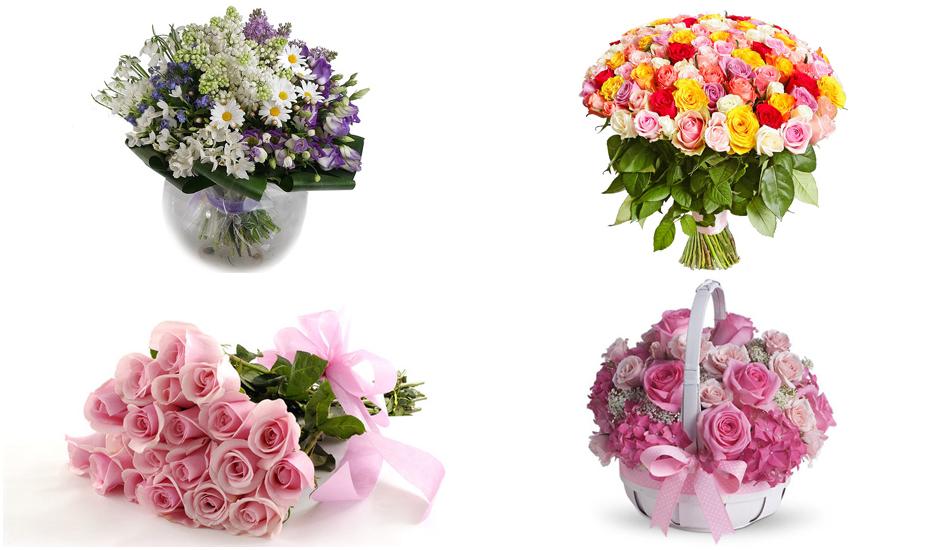 Цветы и букеты на 8 Марта