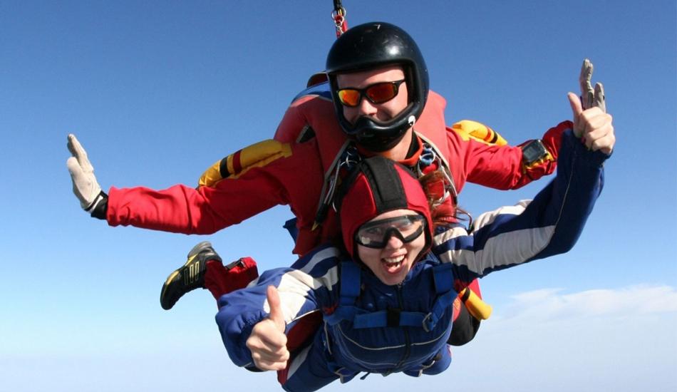 прыжок с парашюта